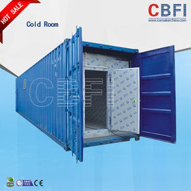 Cina Color Steel Panels Sliding Door Container Cold Room -18 - -25 For Fish And Meat pabrik