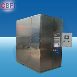 Cina Cold Drink Shops Plate Ice Machine With PLC Central Program Control  pabrik