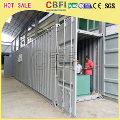 Cina 5 Ton Per Day Containerized Block Ice Machine, Ice Block Making Business  pabrik