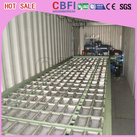 Cina 1 ~ 12 MT Daily Capacity Container Industrial Ice Block Making Machine For Supermarkets pabrik