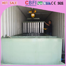 Cina Restaurants Bars Containerized Block Ice Machine Low Electric Power Consumption pabrik