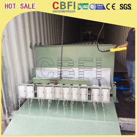 Cina Stainless Steel 316 Block Ice Maker / Dry Ice Block Machine With Crane System pabrik