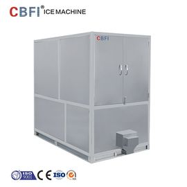 Cina 1000kg Air Cooled Ice Cube Machine With Germany Bitzer / R22 Refrigerant pabrik