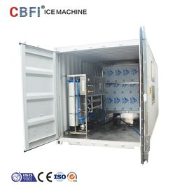 Cina Containerized Commercial Ice Cube Maker R507 Refrigerant 29*29*22mm pabrik